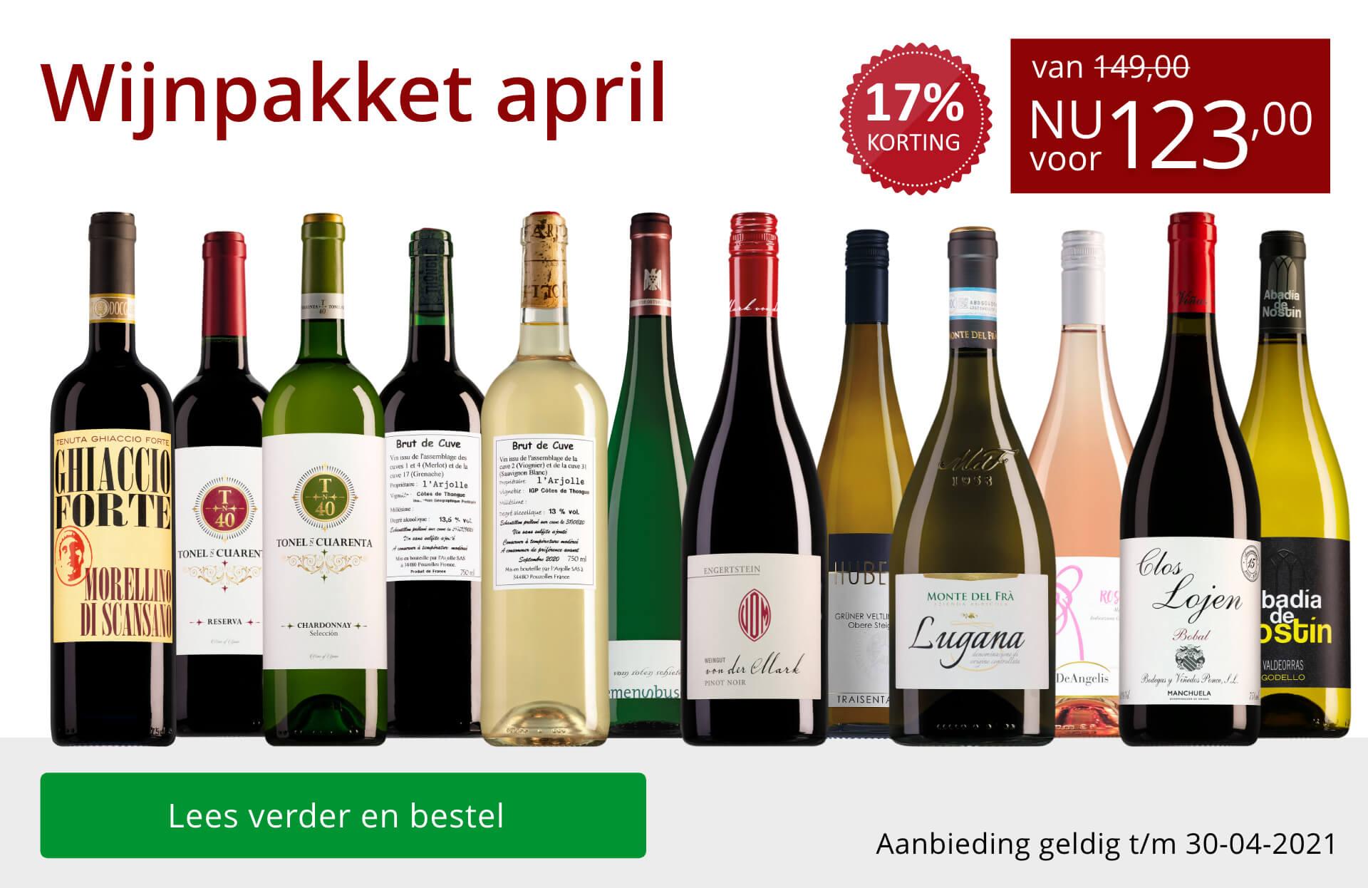 Wijnpakket wijnbericht april 2021 (123,00) - rood